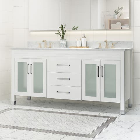 """Holdame 72"""" Wood Bathroom Vanity (Counter Top Not Included) by Christopher Knight Home"""