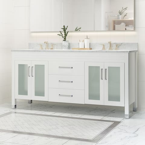 "Holdame 72"" Wood Bathroom Vanity (Counter Top Not Included) by Christopher Knight Home"