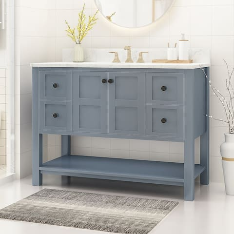 """Jamison 48"""" Wood Bathroom Vanity (Counter Top Not Included) by Christopher Knight Home"""
