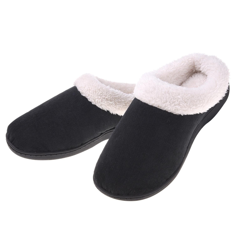 7ae55fbe2ee91 Women's Plush Fleece Memory Foam Slippers Slip on Clog House Shoes Indoor  Outdoor