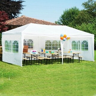 Mcombo 10'x20' Outdoor Canopy Wedding Party Tent w/ 4 Removable Walls