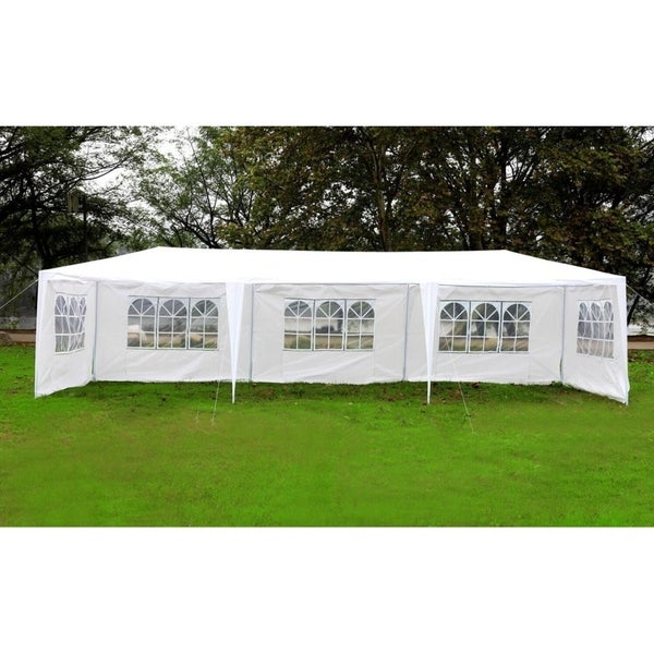 MCombo 10'x30' Outdoor Canopy Tent Waterproof Wedding Party Instant Gazebo 5 Removable Walls