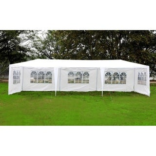 Mcombo 10'x30' Outdoor Canopy Wedding Party Tent w/ 5 Removable Walls