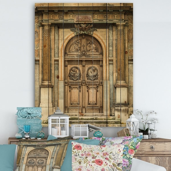 Shop Designart 'Old Wooden Door With Carvings in Paris, France ... on