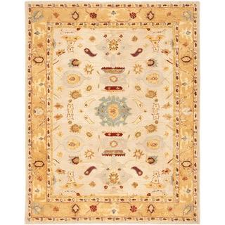 Safavieh Handmade Anatolia Traditional Ivory/ Gold Hand-spun Wool Rug (9' x 12')