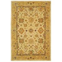 Safavieh Handmade Anatolia Oriental Heirloom Ivory/ Gold Hand-spun Wool Rug - 5' x 8'