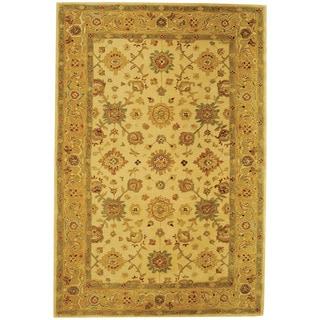 Safavieh Handmade Heirloom Ivory/ Gold Wool Rug (6' x 9')