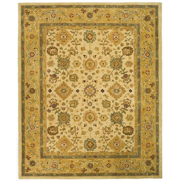 Safavieh Handmade Heirloom Ivory/ Gold Wool Rug (8' x 10')