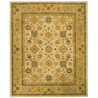 Safavieh Handmade Anatolia Oriental Heirloom Ivory/ Gold Hand-spun Wool Rug (9' x 12')