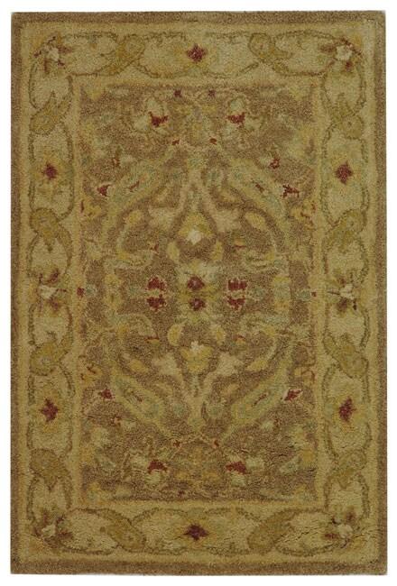 Safavieh Handmade Antiquities Treasure Brown/ Gold Wool Rug (2' x 3')