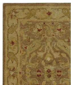 Safavieh Handmade Antiquities Treasure Brown/ Gold Wool Rug (2' x 3') - Thumbnail 2