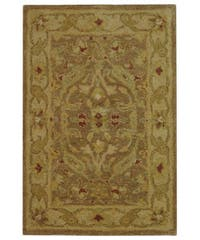 Safavieh Handmade Antiquities Treasure Brown/ Gold Wool Rug - 2' x 3'