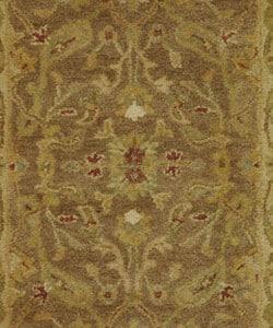 Safavieh Handmade Antiquities Treasure Brown/ Gold Wool Runner (2'3 x 4') - Thumbnail 1