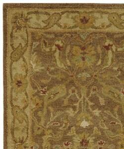 Safavieh Handmade Antiquities Treasure Brown/ Gold Wool Runner (2'3 x 4') - Thumbnail 2
