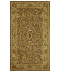 Safavieh Handmade Antiquities Treasure Brown/ Gold Wool Runner (2'3 x 4')