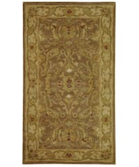 "Safavieh Handmade Antiquities Treasure Brown/ Gold Wool Runner Rug - 2'3"" x 4'"