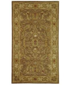 Safavieh Handmade Antiquities Treasure Brown/ Gold Wool Runner (2'3 x 4')