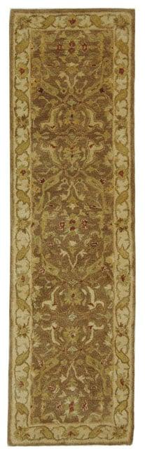 Safavieh Handmade Antiquities Treasure Brown/ Gold Wool Runner (2'3 x 8')