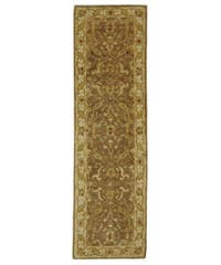 Safavieh Handmade Antiquities Treasure Brown/ Gold Wool Runner Rug - 2'3 x 8'