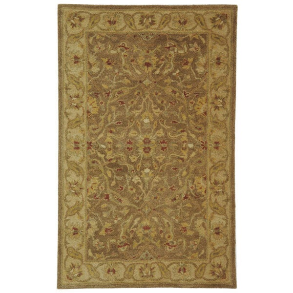 Safavieh Handmade Antiquities Treasure Brown/ Gold Wool Rug (3' x 5')