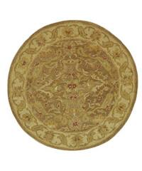 "Safavieh Handmade Antiquities Treasure Brown/ Gold Wool Rug - 3'6"" x 3'6"" round"