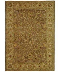 Safavieh Handmade Antiquities Treasure Brown/ Gold Wool Rug (4' x 6')
