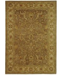 Safavieh Handmade Antiquities Treasure Brown/ Gold Wool Rug - 4' x 6'