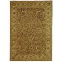 Safavieh Handmade Antiquities Treasure Brown/ Gold Wool Rug - 4' x 6'