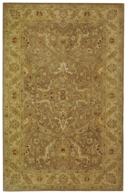 Safavieh Handmade Antiquities Treasure Brown/ Gold Wool Rug - 5' x 8'