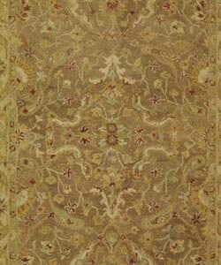 Safavieh Handmade Antiquities Treasure Brown/ Gold Wool Rug (5' x 8') - Thumbnail 1
