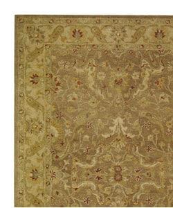 Safavieh Handmade Antiquities Treasure Brown/ Gold Wool Rug (5' x 8') - Thumbnail 2