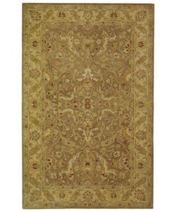 Safavieh Handmade Antiquities Treasure Brown/ Gold Wool Rug - 5' x 8' - Thumbnail 0