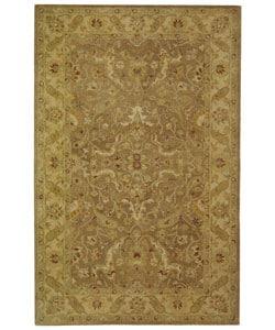 Safavieh Handmade Antiquities Treasure Brown/ Gold Wool Rug (5' x 8')