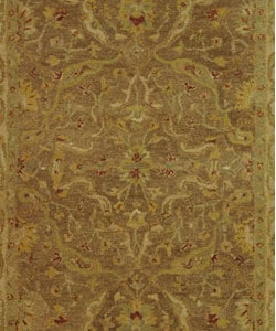 Safavieh Handmade Antiquities Treasure Brown/ Gold Wool Rug (6' x 9') - Thumbnail 1