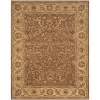 "Safavieh Handmade Antiquities Treasure Brown/ Gold Wool Rug - 7'6"" x 9'6"""