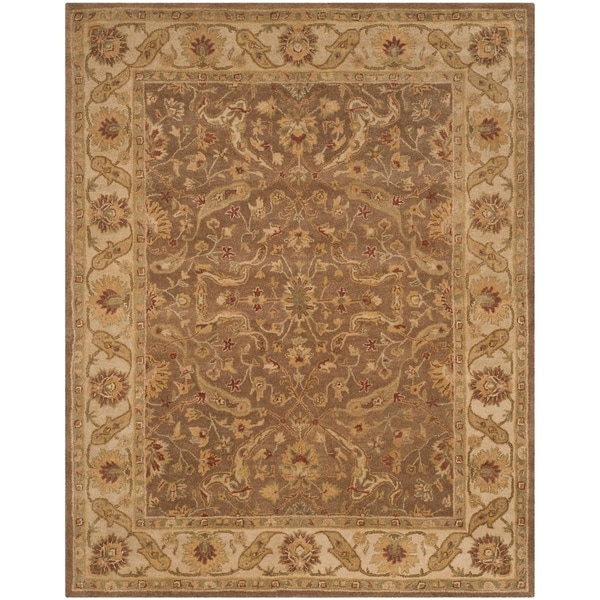 "Safavieh Handmade Antiquities Treasure Brown/ Gold Wool Rug - 7'6"" x 9'6"""
