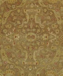 Safavieh Handmade Antiquities Treasure Brown/ Gold Wool Rug (8' Round)