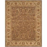 "Safavieh Handmade Antiquities Treasure Brown/ Gold Wool Rug - 8'3"" x 11'"