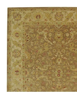 Safavieh Handmade Antiquities Treasure Brown/ Gold Wool Rug (9'6 x 13'6) - Thumbnail 2