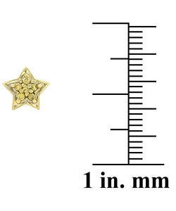 DB Designs 18k Gold Overlay 1/8ct TDW Diamond Star Earrings