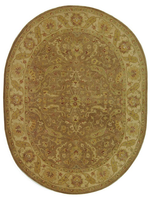 Safavieh Handmade Treasure Brown/ Gold Wool Rug (7'6 x 9'6 Oval)