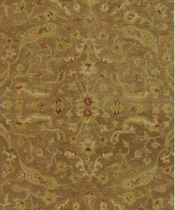 Safavieh Handmade Treasure Brown/ Gold Wool Rug (7'6 x 9'6 Oval) - Thumbnail 1