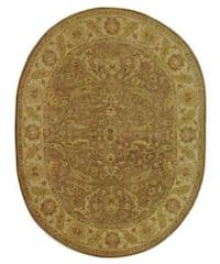 "Safavieh Handmade Treasure Brown/ Gold Wool Rug - 7'6"" x 9'6"" oval"