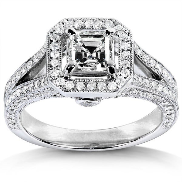 Annello by Kobelli 14k White Gold 1 1/3ct TDW Diamond Engagement Ring (H-I, SI1)
