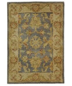 Safavieh Handmade Antiquities Jewel Grey Blue/ Beige Wool Rug (2' x 3')