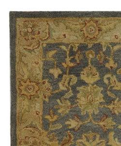 Safavieh Handmade Antiquities Jewel Grey Blue/ Beige Wool Runner (2'3 x 4') - Thumbnail 2