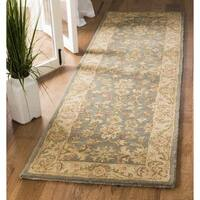 Safavieh Handmade Antiquities Jewel Grey Blue/ Beige Wool Runner Rug - 2'3 x 8'