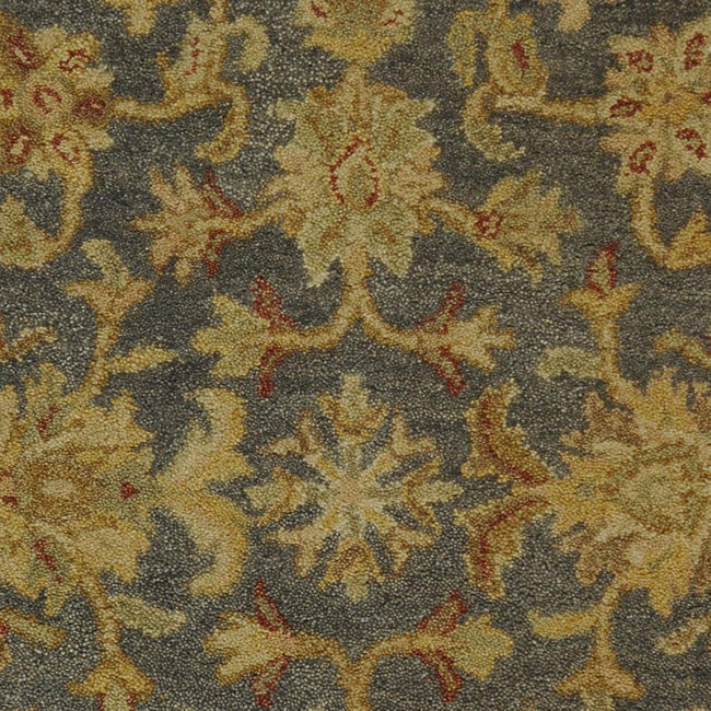 Safavieh Handmade Antiquities Jewel Grey Blue/ Beige Wool Runner (2'3 x 10')