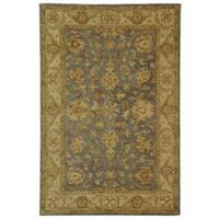 Safavieh Handmade Antiquities Jewel Grey Blue/ Beige Wool Rug - 4' x 6'