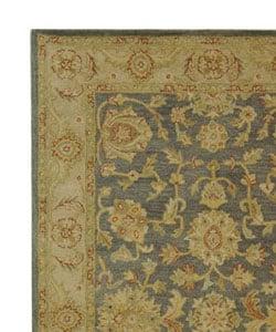 Safavieh Handmade Antiquities Jewel Grey Blue/ Beige Wool Rug (5' x 8')